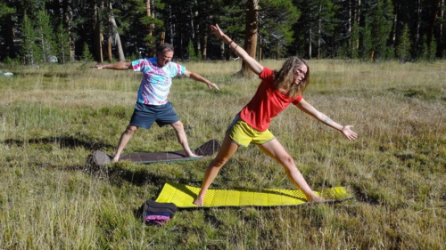 Campsite Yoga, Mike & Kim