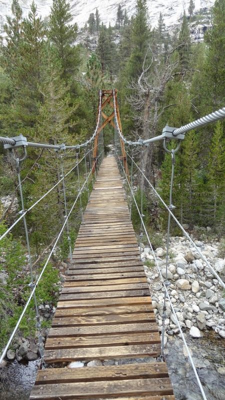 389 Thanks God for suspension bridges over deep  streams.