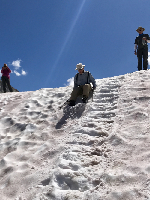 Snow slide 1