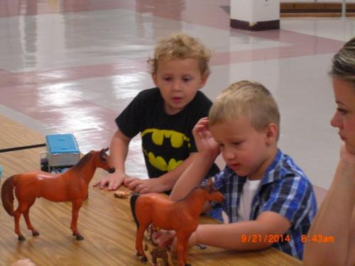 Leo, Cole, Horses